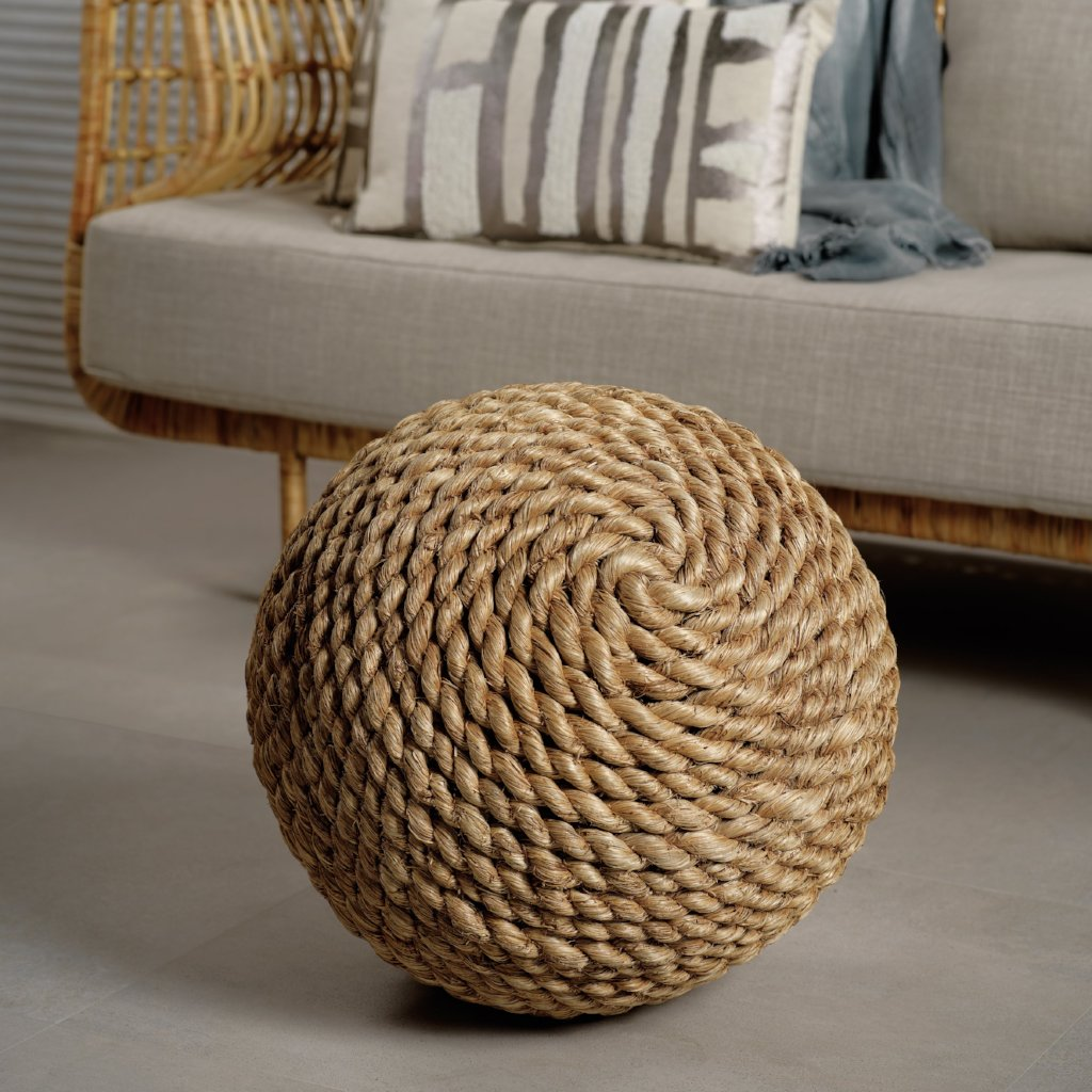Abaca Rope Ball and Stool - CARLYLE AVENUE