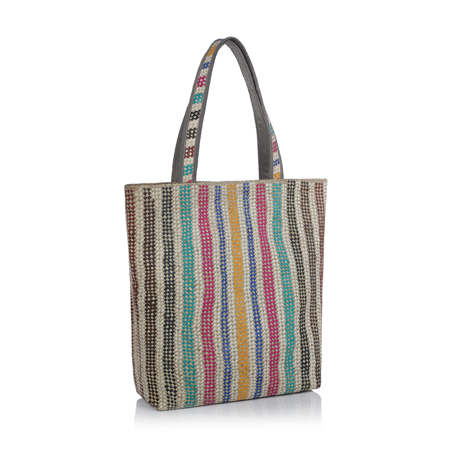 Mia All Purpose Bag - Vertical Rainbow