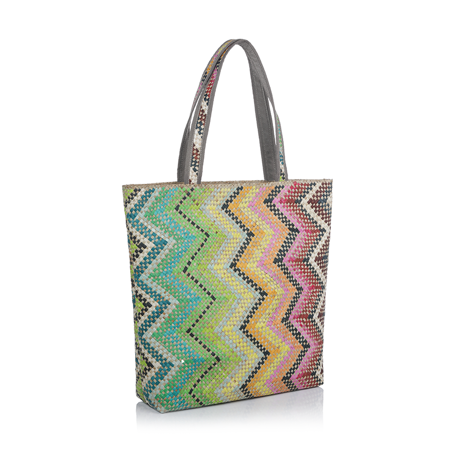 Mia All Purpose Bag - Multicolor Zigzag