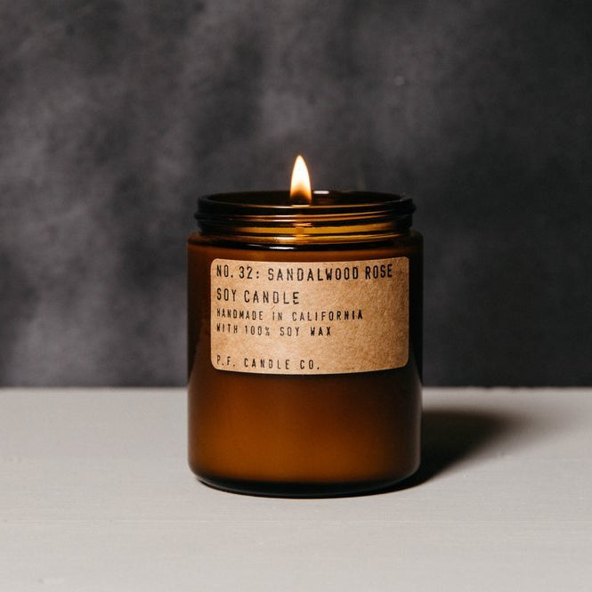 P.F. Candle Co Soy Candle Sandalwood Rose