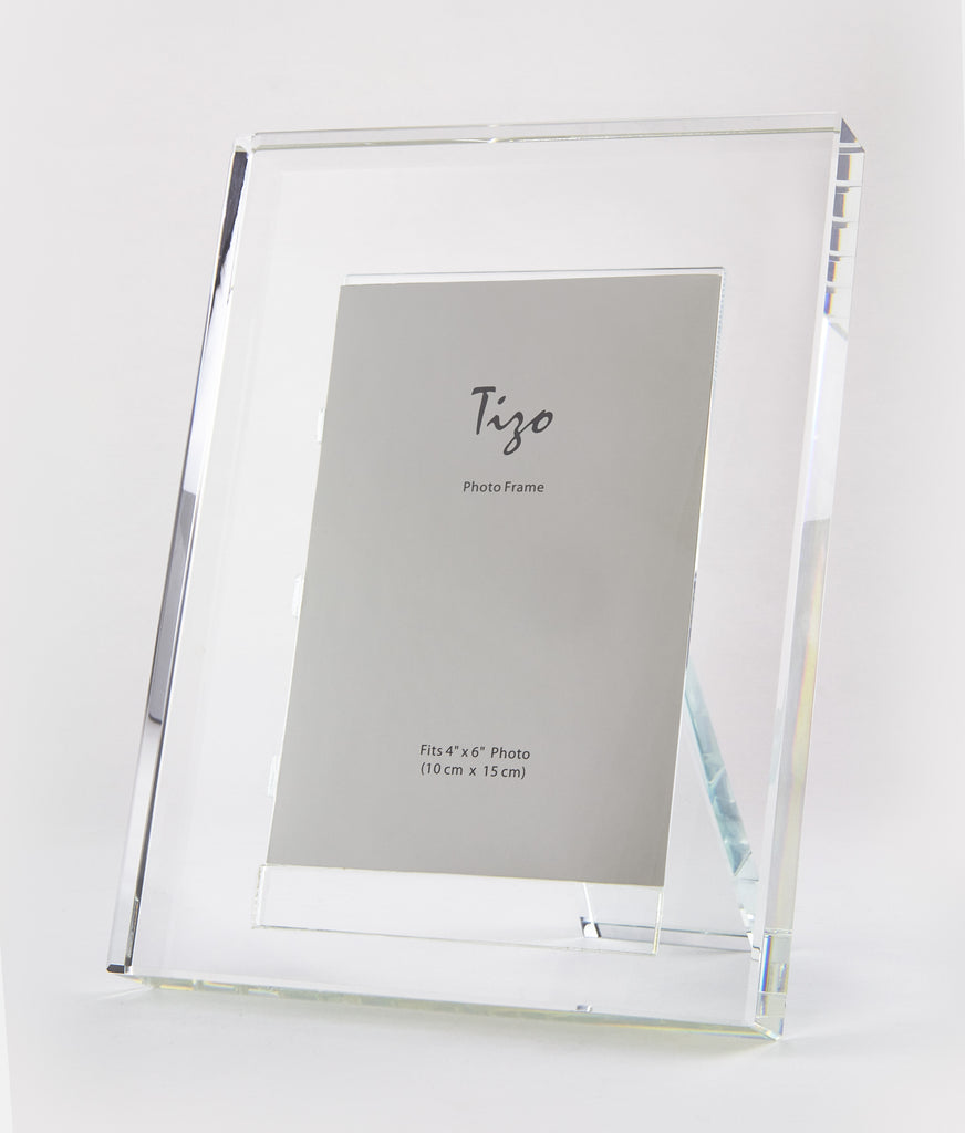 Crystal Glass Picture Frame - Clear - CARLYLE AVENUE