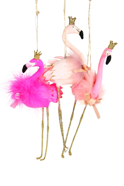 Assorted Flamingo Ornaments