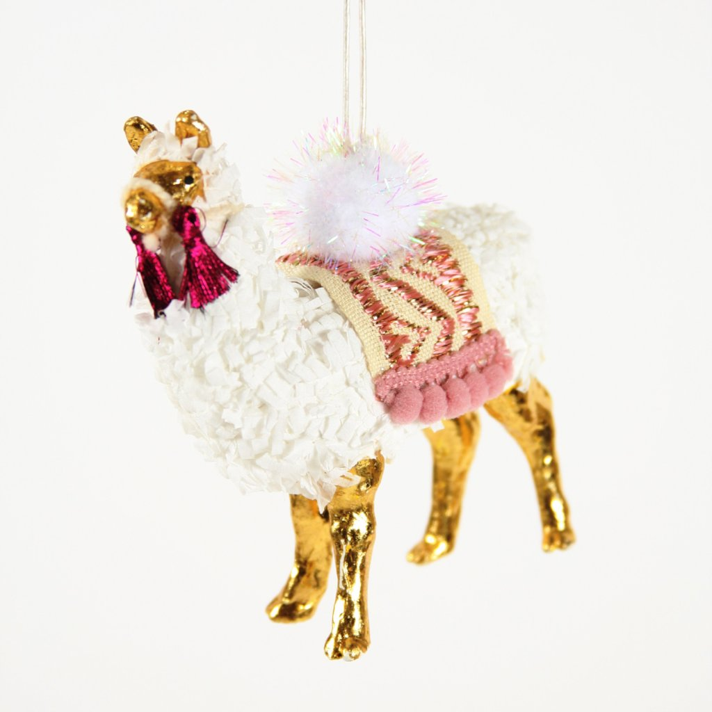 Winter Llama Ornament - CARLYLE AVENUE