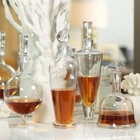 Hand Blown Glass Decanters - Clearance