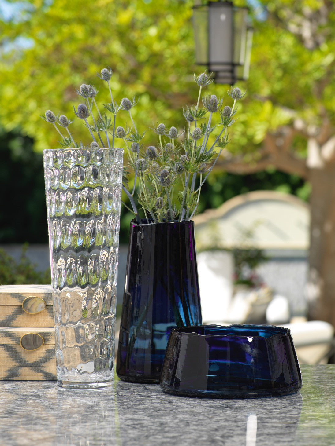 Manarola Glass Bowl - Midnight Blue - CARLYLE AVENUE