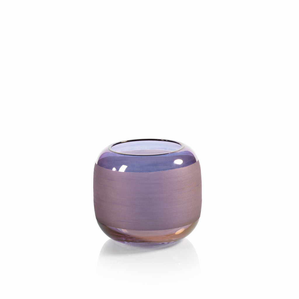 Trezza Luster Copper Glass Vase - Small - CARLYLE AVENUE - 2