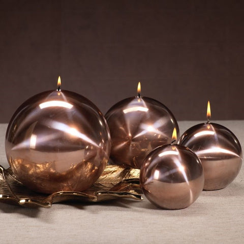 Titanium Ball Candle - Rose Gold