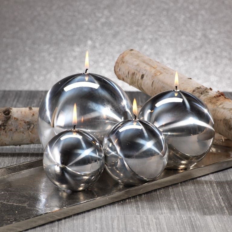 Titanium Ball Candle - Silver - CARLYLE AVENUE