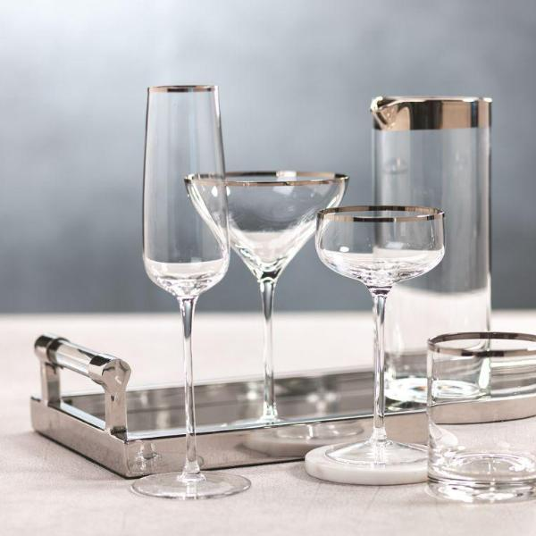 London Grand Coupe Glass - Set of 6 - PLATINUM