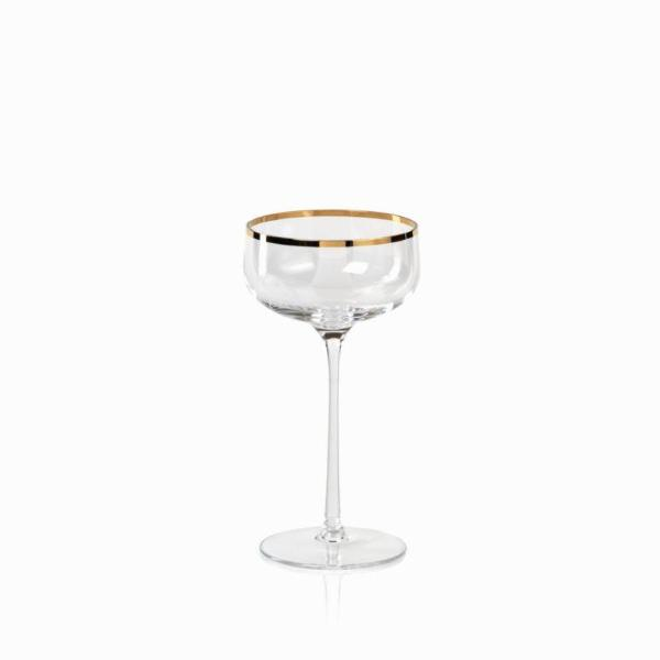 London Champagne Coupe - Gold Rim