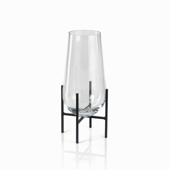 Salema Vase / Hurricane on Metal Stand - CARLYLE AVENUE