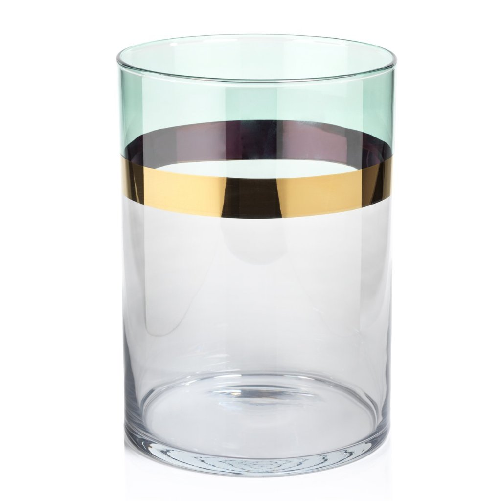 Veneto Two-Tone Luster Votive Holder - Green