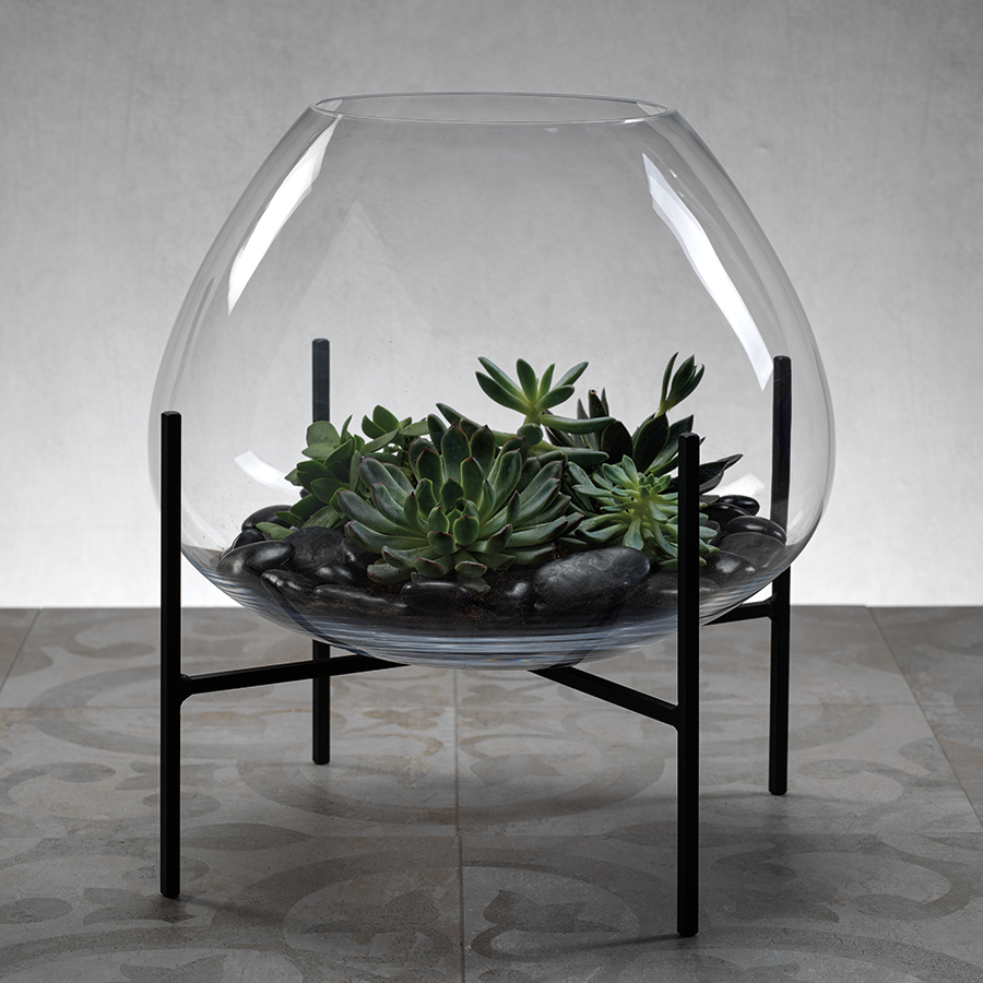 Bali Terrarium Blown Glass on Stand