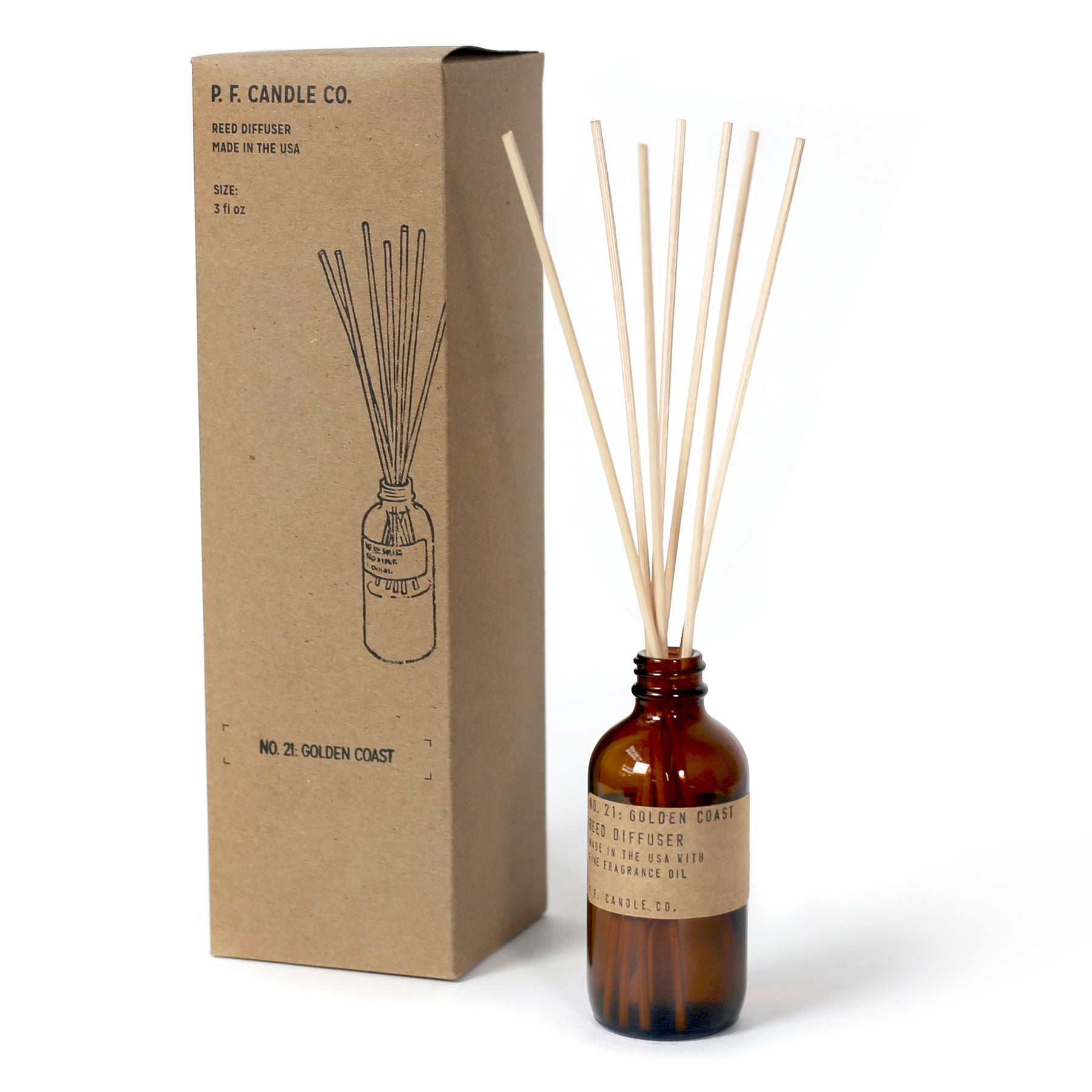 P.F. Candle Co Reed Diffuser Golden Coast - CARLYLE AVENUE