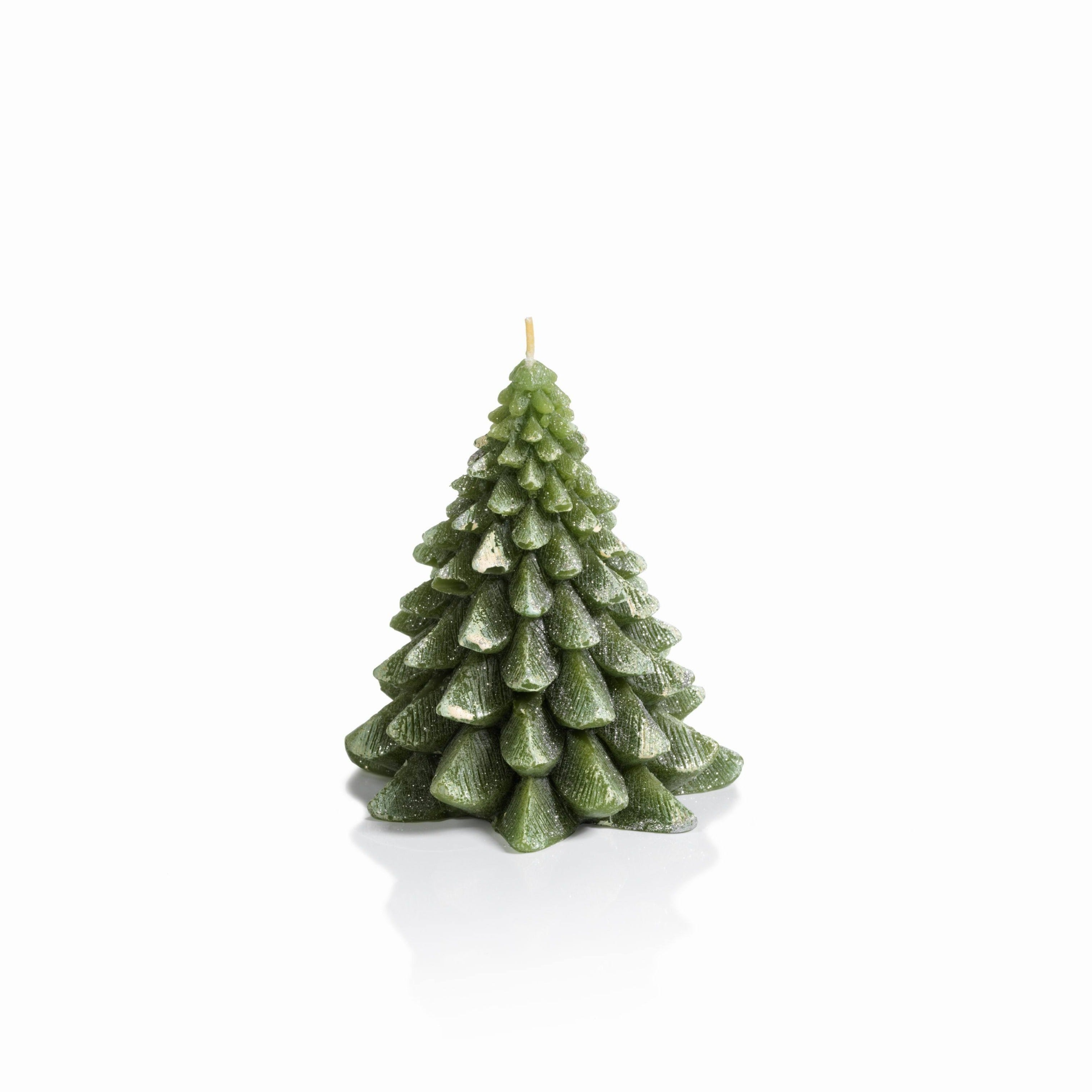 Winter Pine Tree Candle