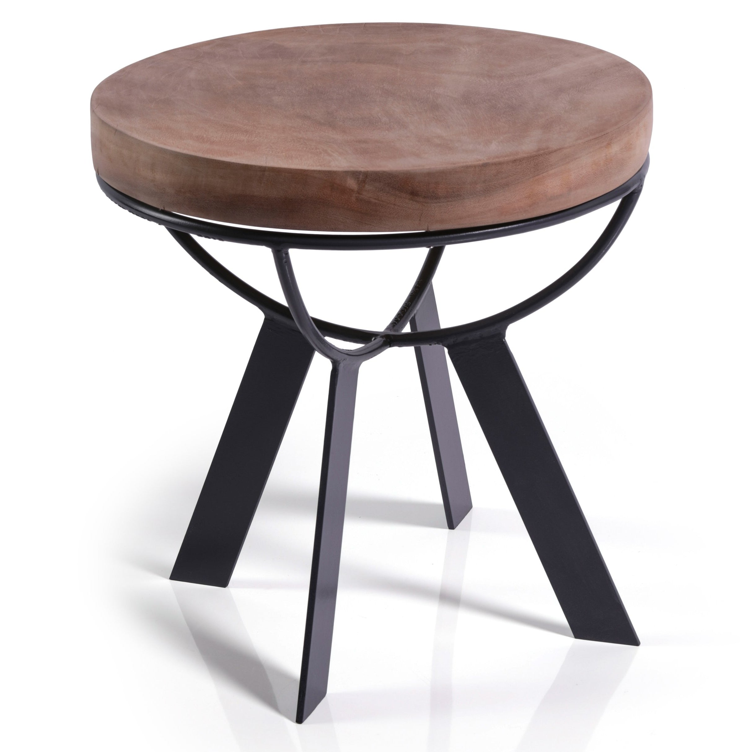 Larissa Acacia Wood Accent Table - CARLYLE AVENUE