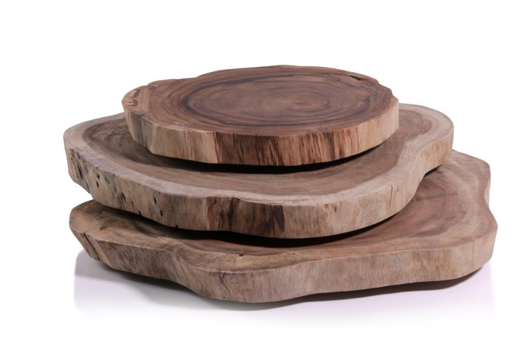 Megali Acacia Wood Set/3 Layered Coffee Table - CARLYLE AVENUE