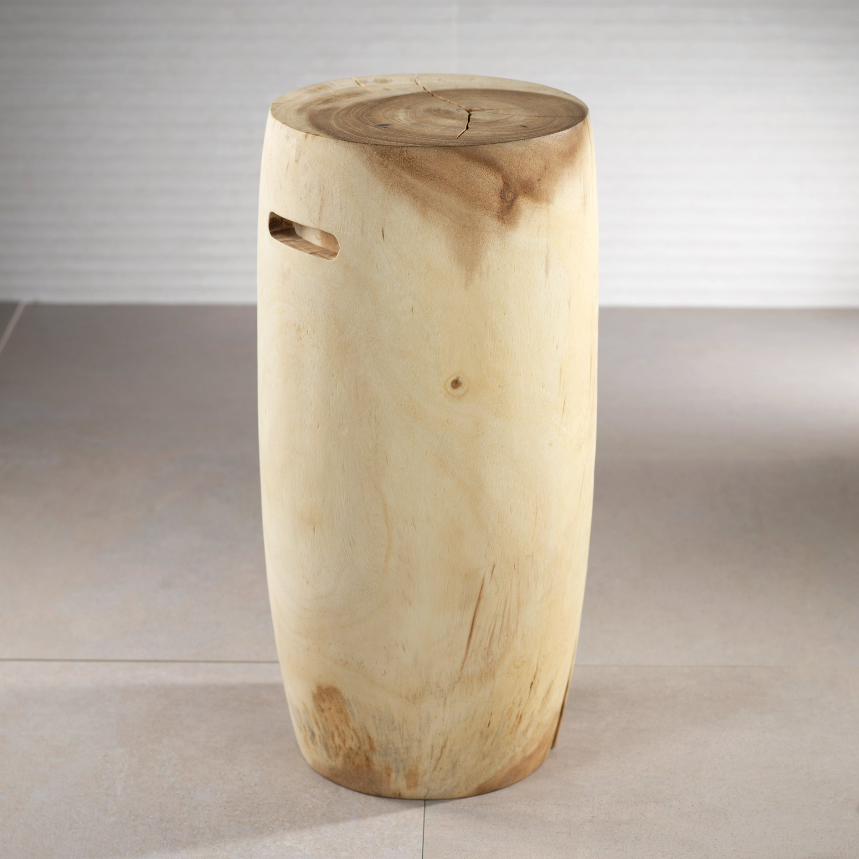 Tambor Acacia Wood Stool