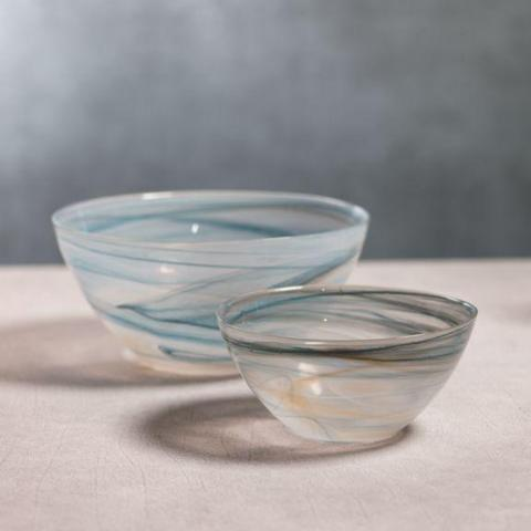 Lagoon Alabaster Glass Bowl