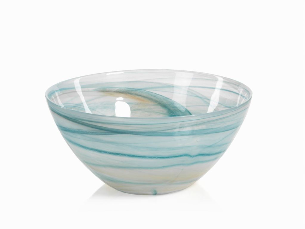 Lagoon Alabaster Glass Bowl - CARLYLE AVENUE