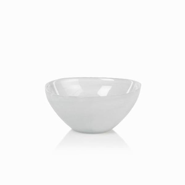 Monte Carlo Alabaster Glass Bowl - White
