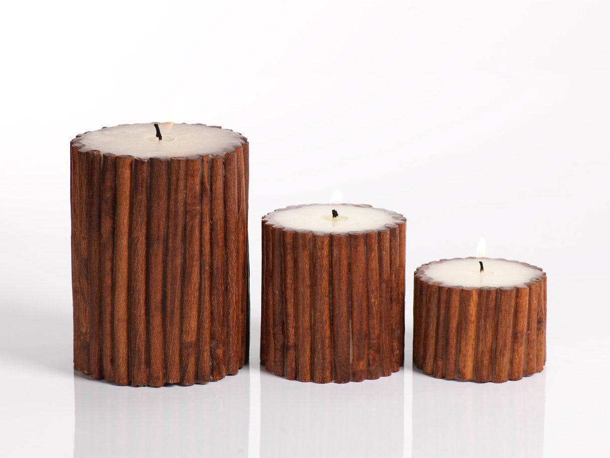 Cinnamon Stick Scented Pillar Candle - CARLYLE AVENUE
