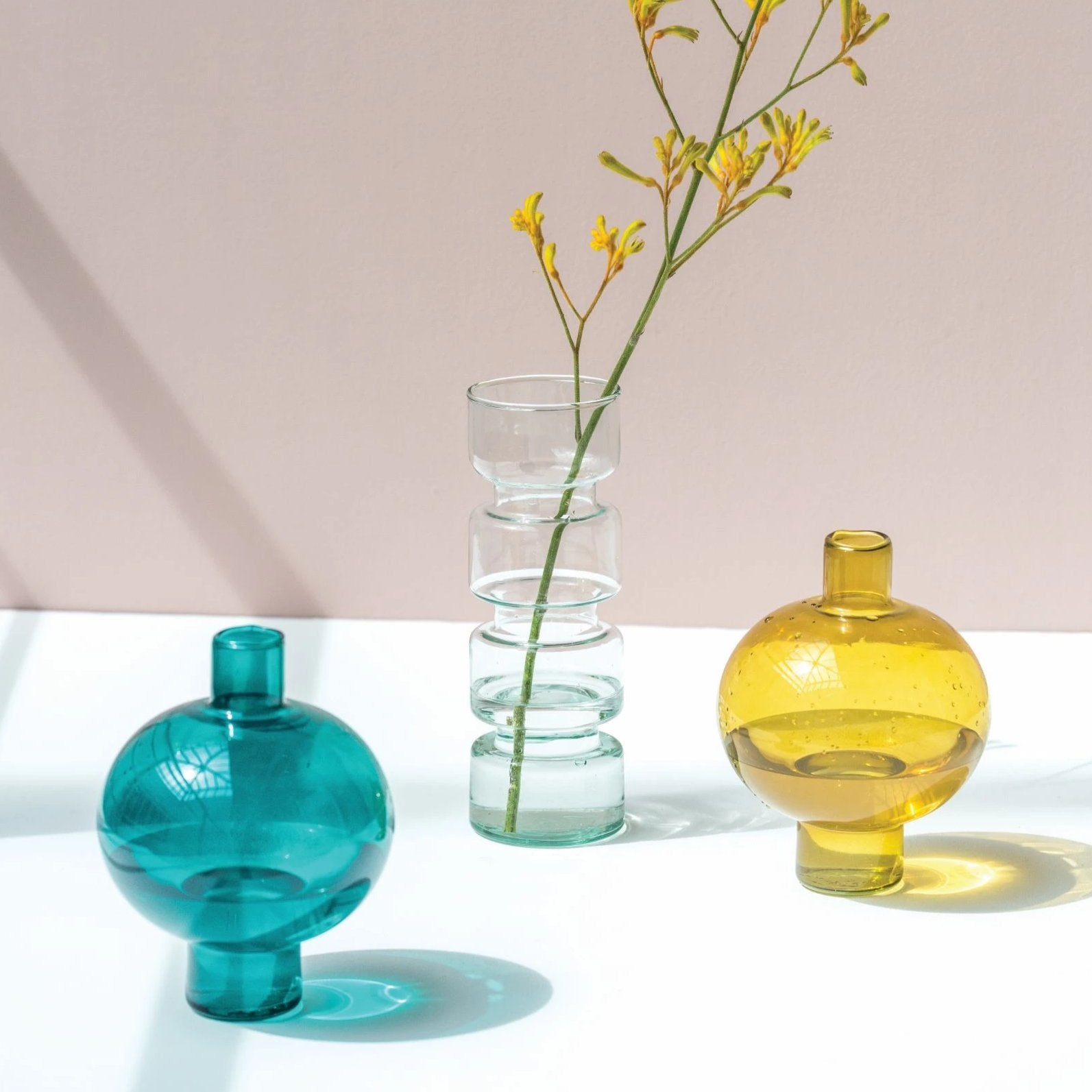 Recycled Glass Vases - CARLYLE AVENUE