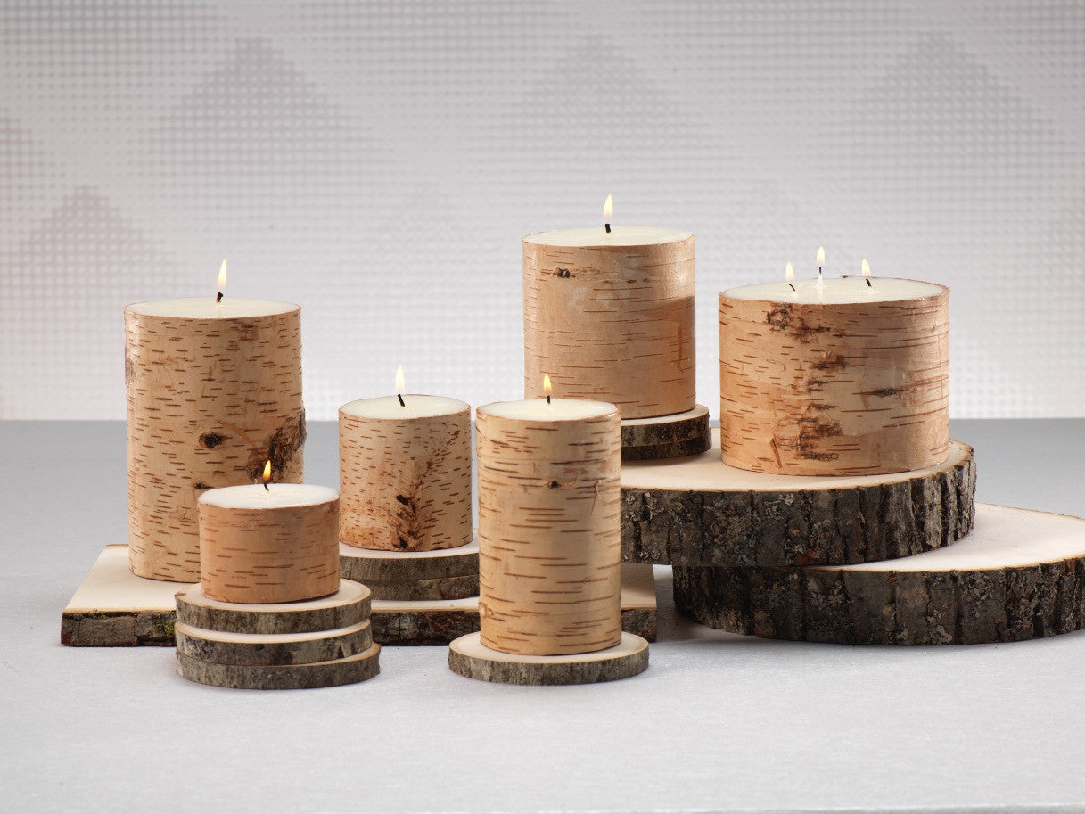 Birchwood Scented Pillar Candles - Set of 4 - CARLYLE AVENUE