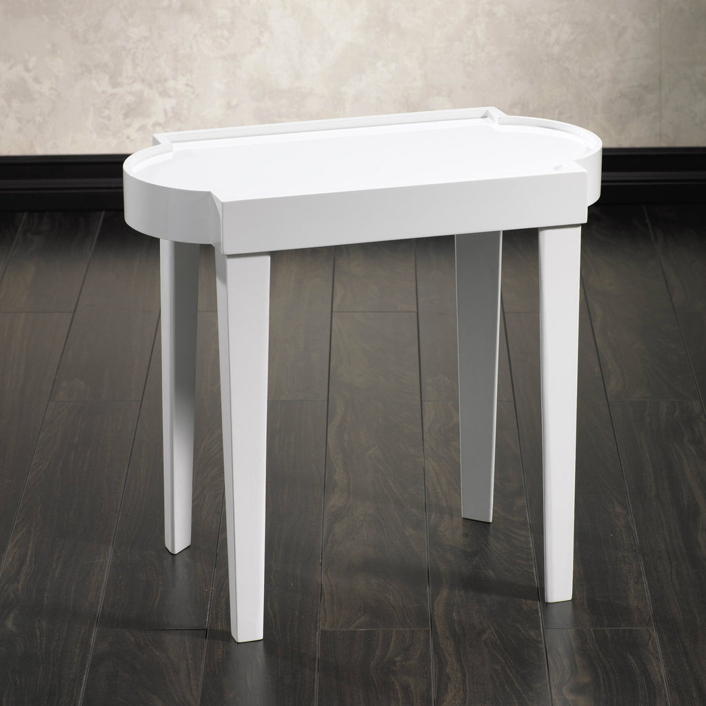 Leeza White Lacquer Rectangular Table -  - CARLYLE AVENUE - 2