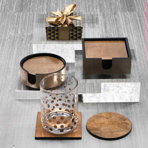 Two Tone Gold Coaster Set