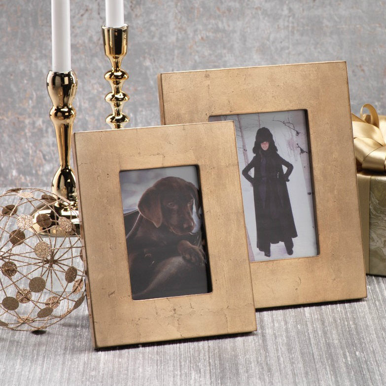Gold Leaf Photo Frames - CARLYLE AVENUE
