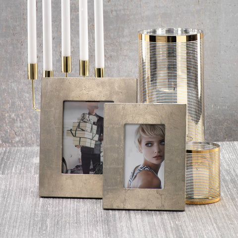 Silver Leaf Photo Frames