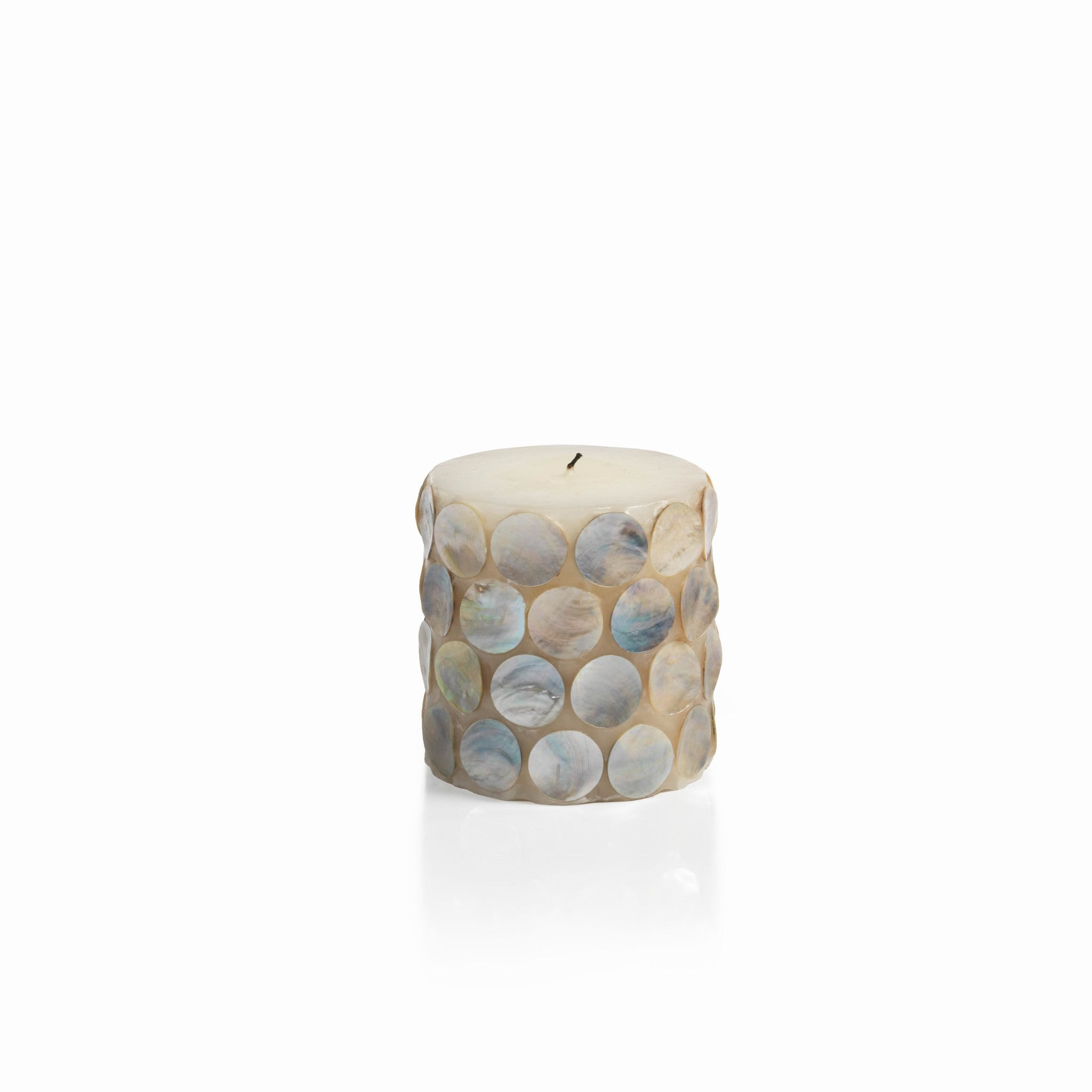 Mahe Capiz Pillar Candle - Short - CARLYLE AVENUE - 2