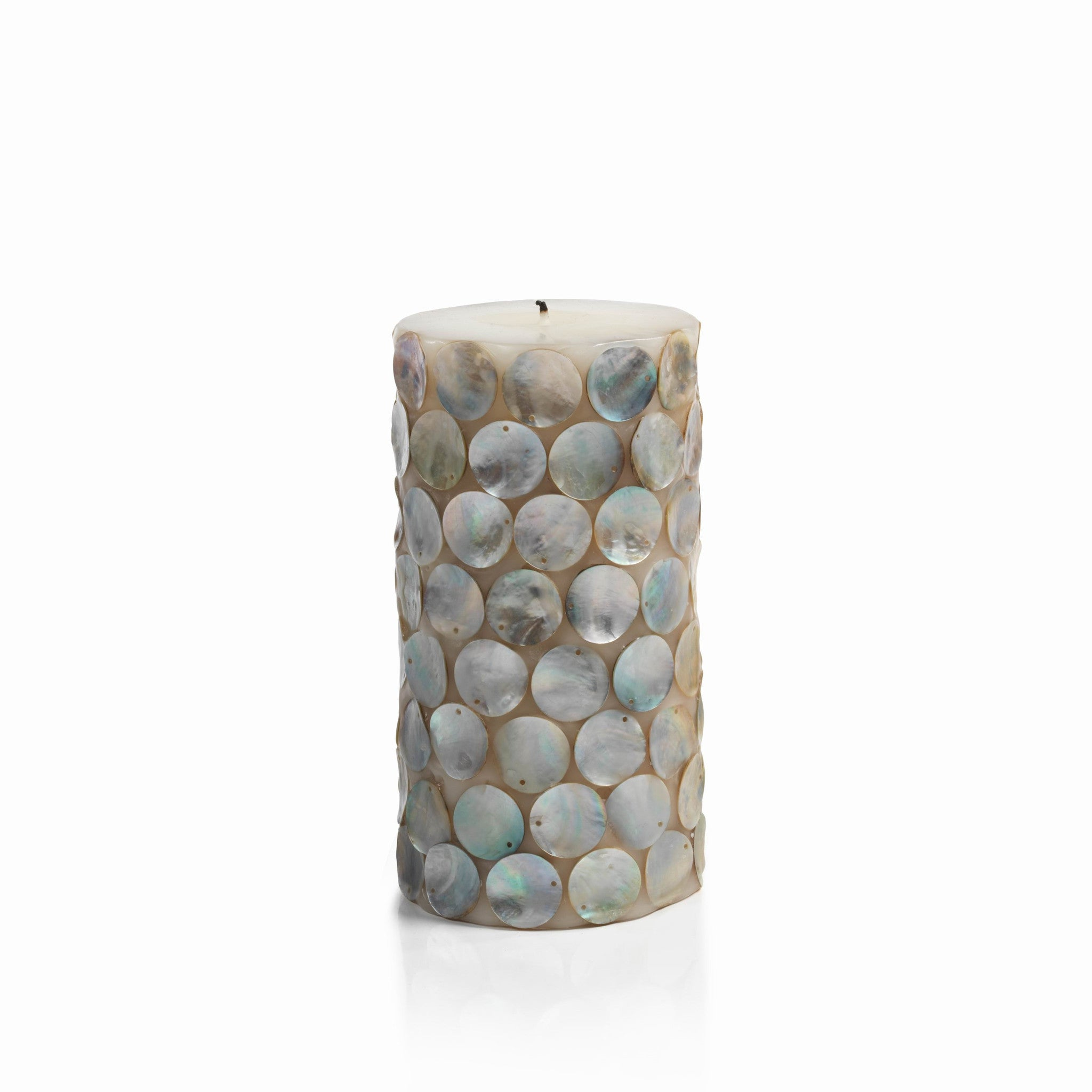 Mahe Capiz Pillar Candle - Tall - CARLYLE AVENUE - 3