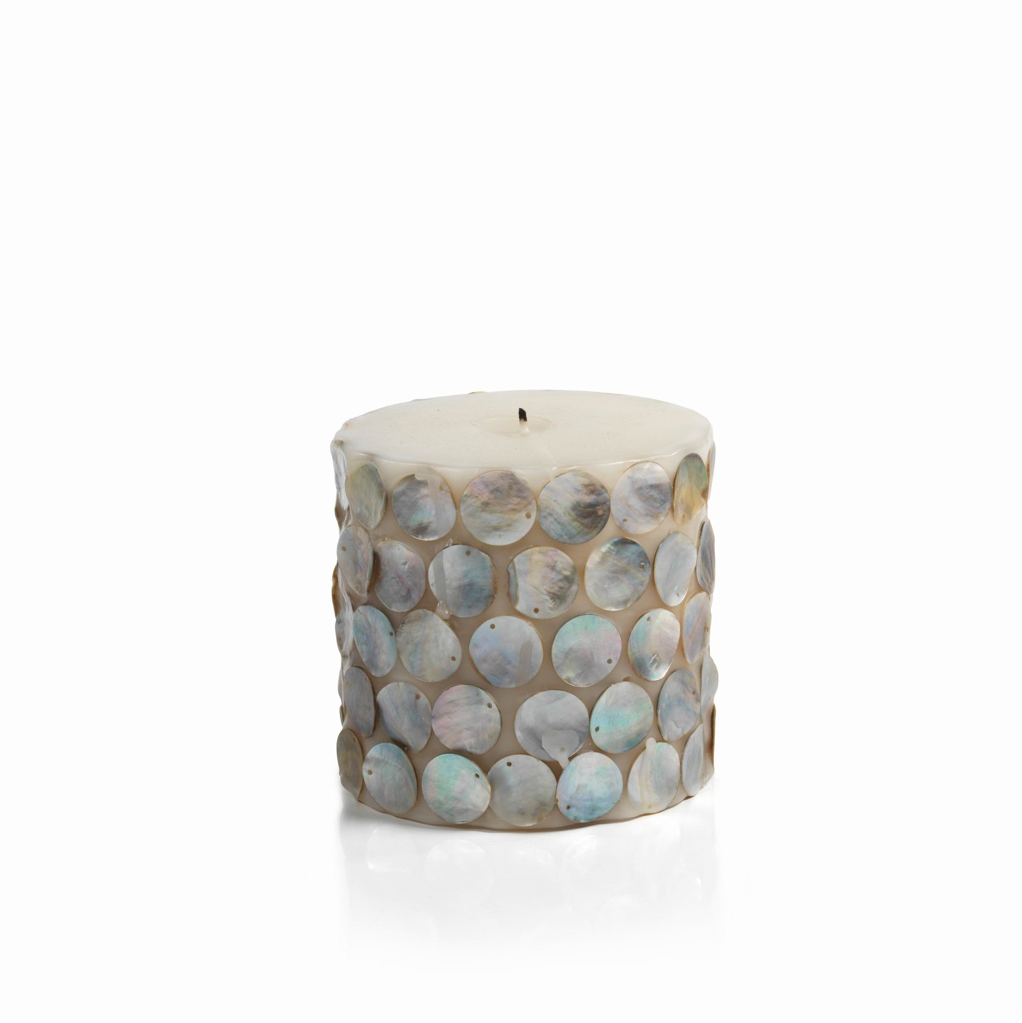 Mahe Capiz Pillar Candle - Medium - CARLYLE AVENUE - 4