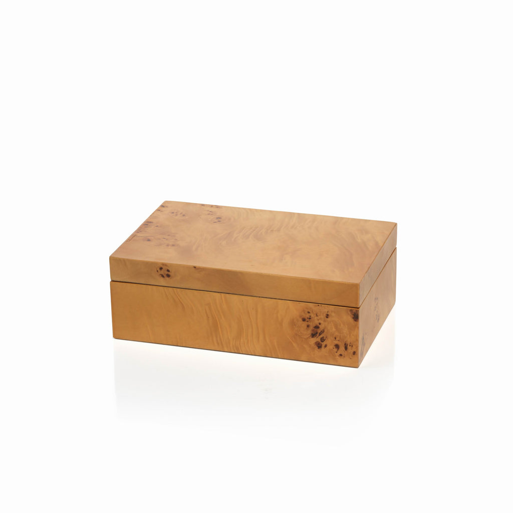 Burlwood Rectangular Box - Small - CARLYLE AVENUE - 2