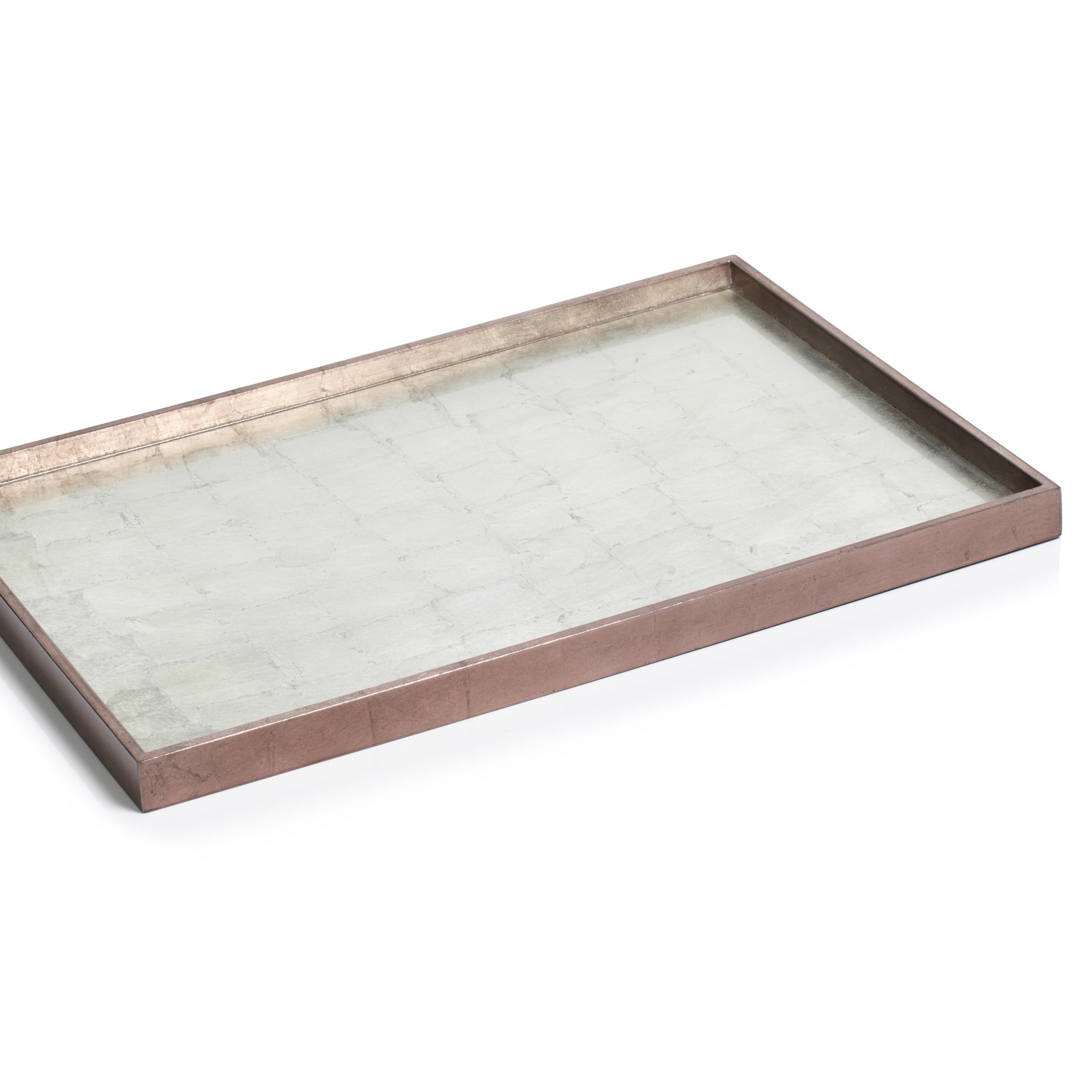 Antique Rose Gold and Silver Serving Tray - CARLYLE AVENUE