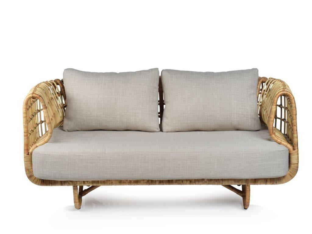 Adrina Rattan Sofa w/ Cushion - CARLYLE AVENUE