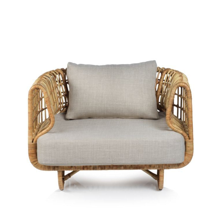 Adrina Rattan Chair w/ Cushion - CARLYLE AVENUE