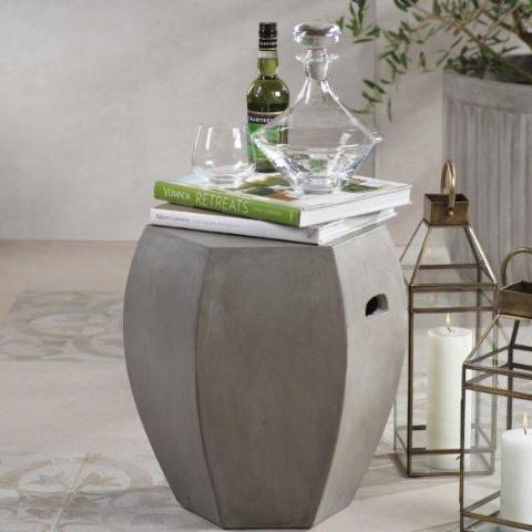 Torino Hexagon Concrete Stool - CARLYLE AVENUE