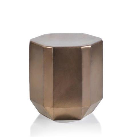 Beveled Earthenware Stool - Bronze - CARLYLE AVENUE