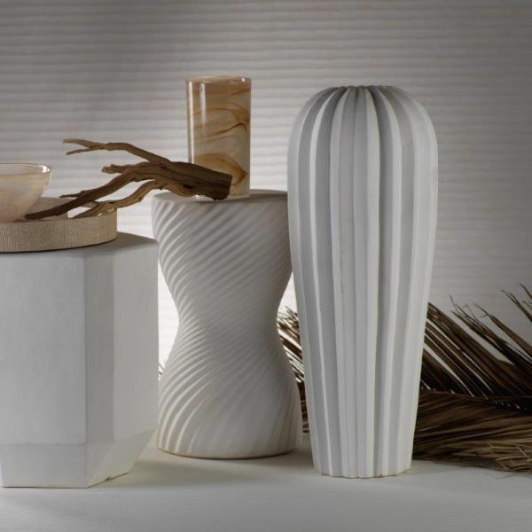 Mallorca Tall Ribbed Vase