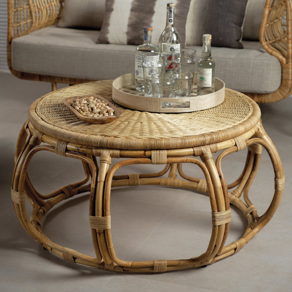 Adrina Rattan Round Table - CARLYLE AVENUE
