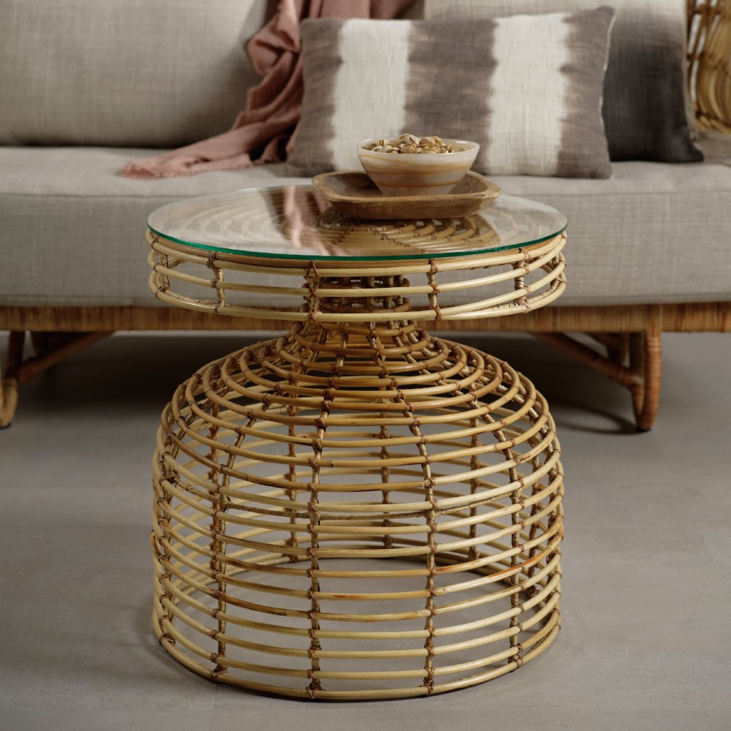 Columbo Rattan Table - CARLYLE AVENUE