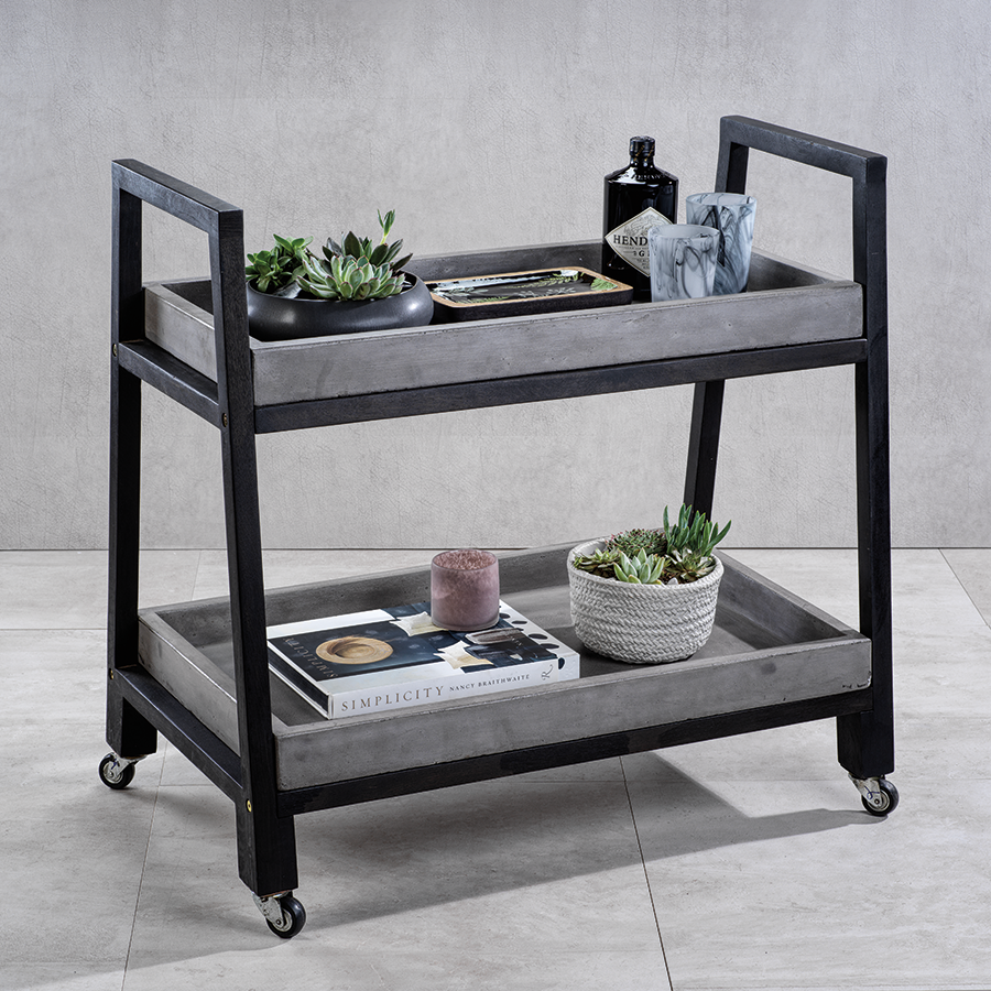 Monteverde Concrete Bar Trolley
