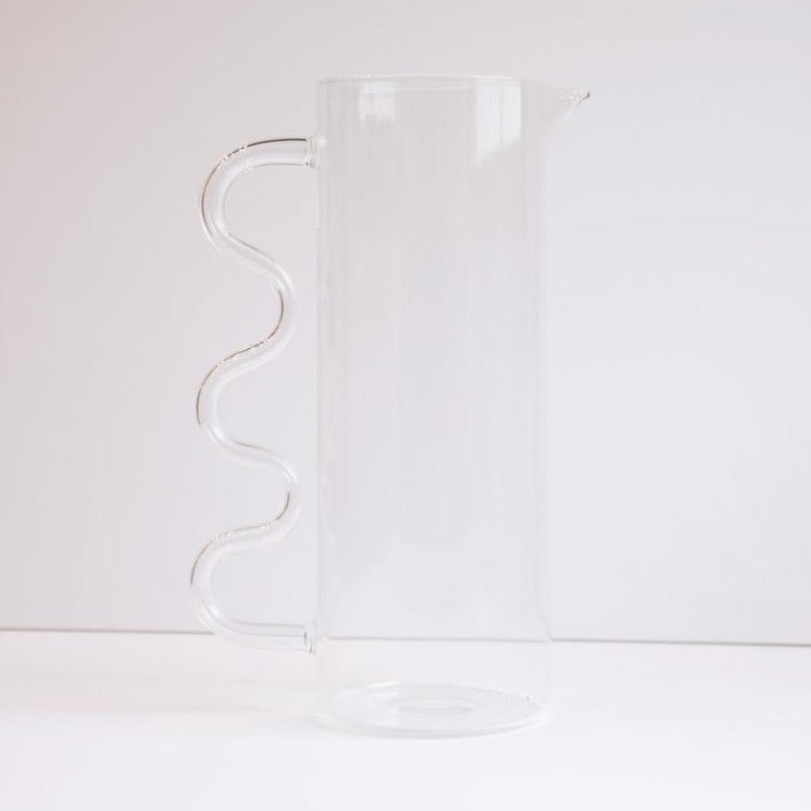 Wave Pitcher - Clear