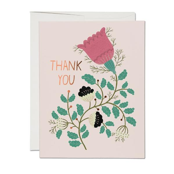 Lovely Tulips FOIL Thank You Card - CARLYLE AVENUE