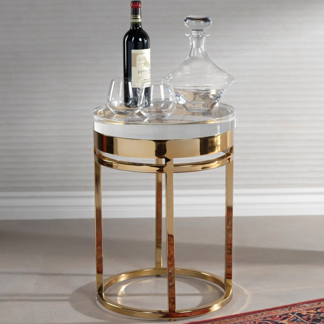 The Langham Side Table - Polished Gold - CARLYLE AVENUE