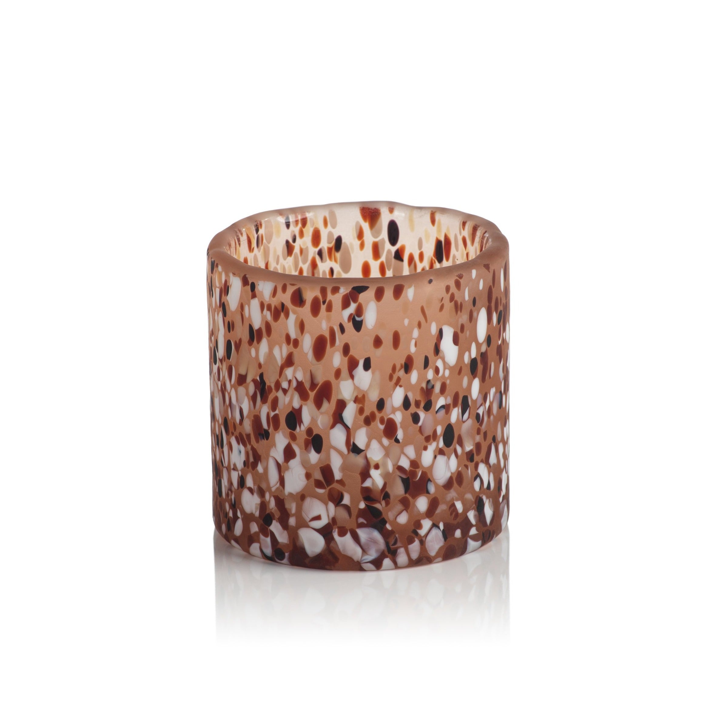 Agiba Blush Terrazzo Glass Candle Holder - CARLYLE AVENUE