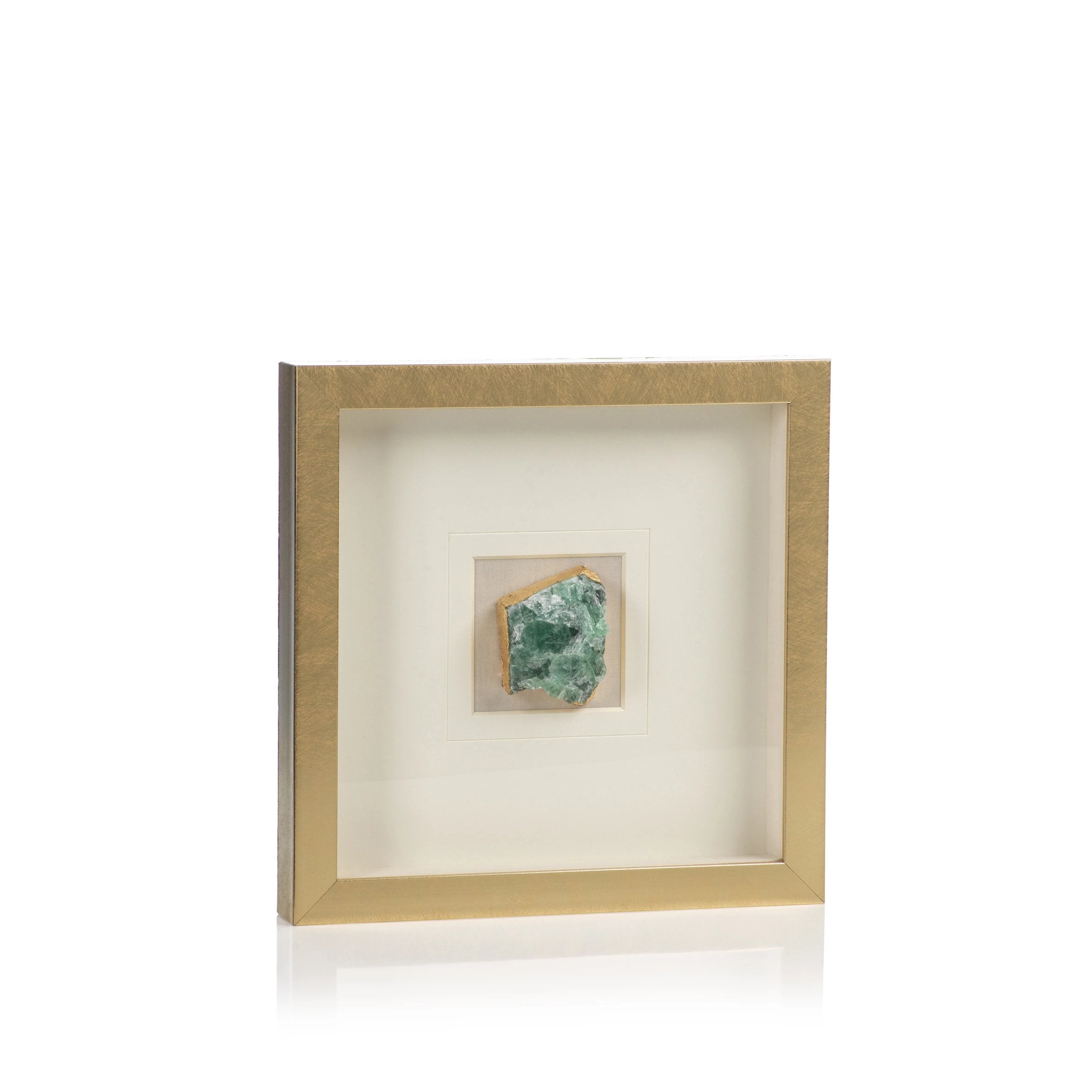 Gold Framed Emerald Crystal - CARLYLE AVENUE